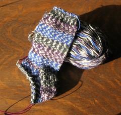 Snowy Opal sock