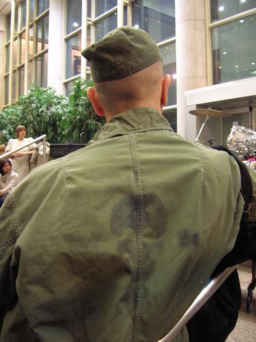 army jacket w skull