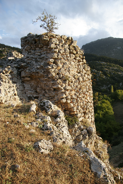 Greece, castle at Ipati