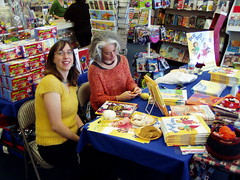 my first book signing evah!
