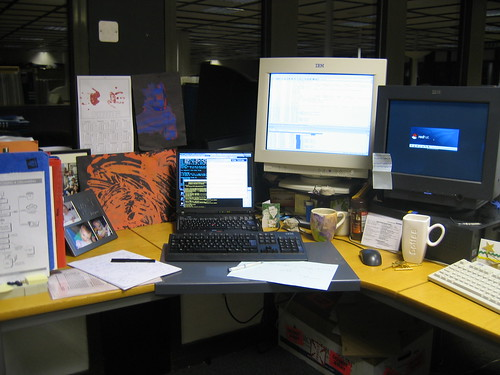 photo of my desk