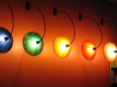 Wall lights at Cafe Cyclo