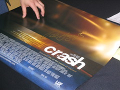 Crash poster signed by Paul Haggis
