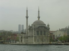 The Ortaköy Mosque from the Ferry
