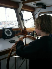 sailor at the helm