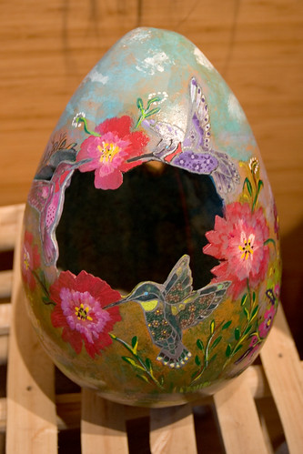 Pascua Yaqui Painted Gourd