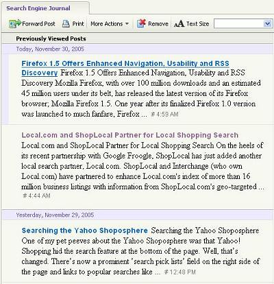 Yahoo Mail RSS Reader (Screenshots!) Integrates Blogs into Email