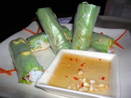 summer rolls tamarind cafe