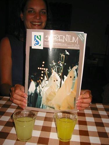 magazine in our apartment, positano