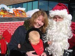 Leda's First Visit with Santa