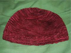 Malabrigo hat for my sister - lying flat