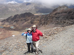 Jonathan and Soyan on top of Chacaltaya