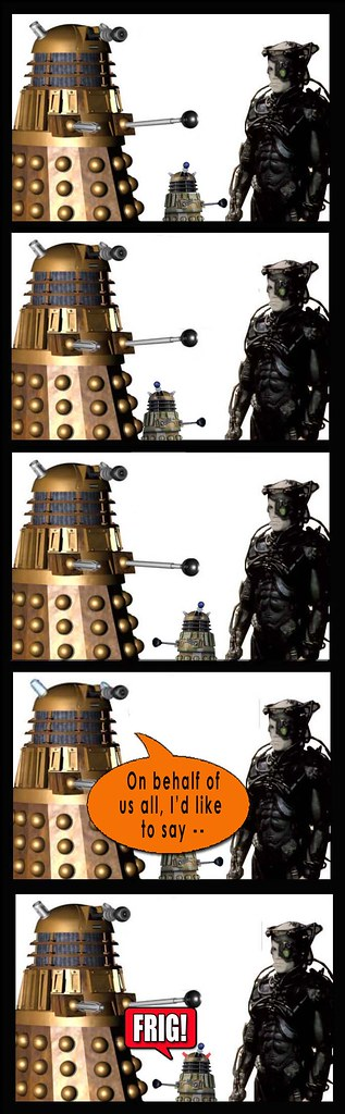Dalek and Borg and toy