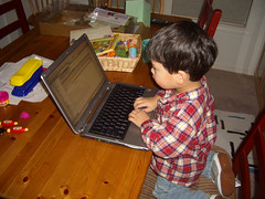 Julian at the keyboard