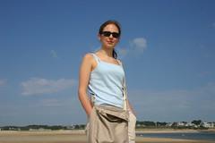 Silvia sulla spiaggia di Chatham