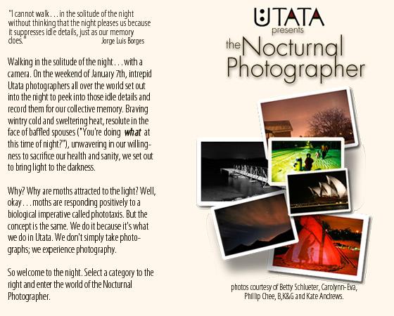 Utata presents Nocturnal Photographer