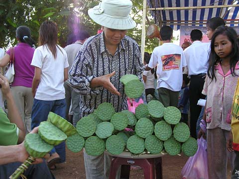 Lotus flower head vendor