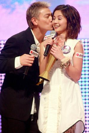 Andy Lau kissing Charlene Choi, TWINS