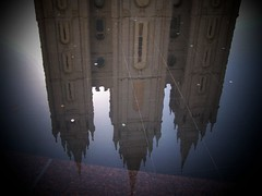 Salt Lake Temple in Reflection