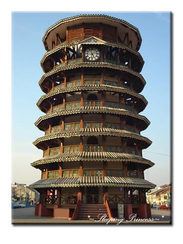 leaning clock tower of teluk intan