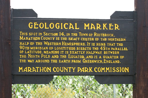 And there, in the middle of a corn field, was our geological marker!