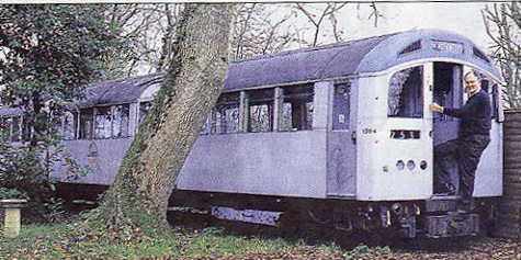 Roger Brown's Tube Carriage in Garden