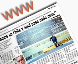 imagen de una de las páginas de un periódico chileno