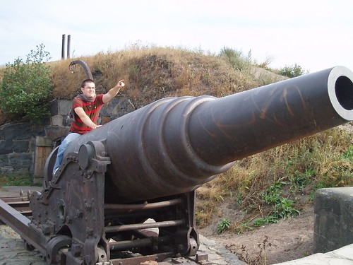 Me riding a cannon to the moon