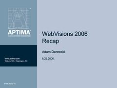 WebVisions 2006 Recap