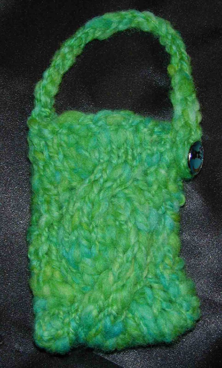 Cell Phone case - Pixie's handspun yarn