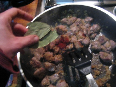 Add bay leaf