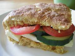 Carrot bread sandwich