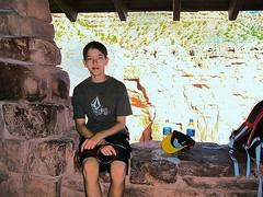 Grand Canyon - Bright Angel Trail - 3-Mile Resthouse