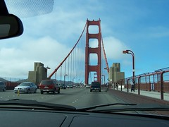 Crossing Golden Gate Bridge
