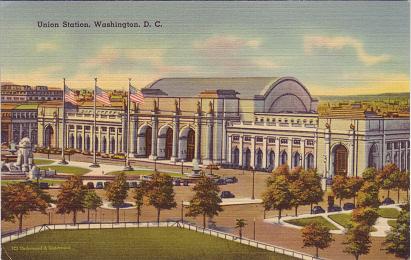 Union Station, Washington, postcard