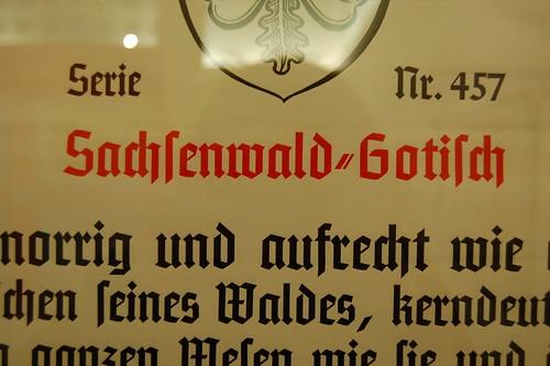 Monotype Sachsenwald-Gotisch specimen.