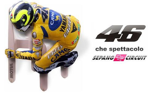Rossi y la silla de Sepang