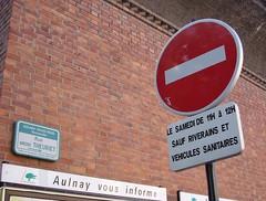 Sens interdit Rue thieuret