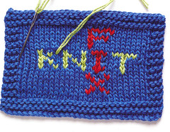 Lisa's Knit Fix swatch