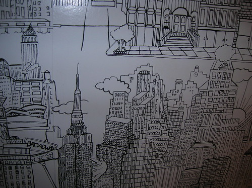 bathroom wallpaper - soho grand