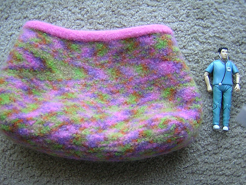 paintbox bag felted