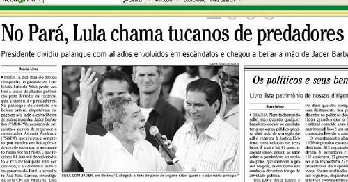 Lula e Jader em Belém