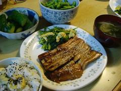 秋刀魚の蒲焼き&栗御飯