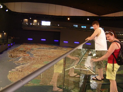 Regina & John pick out landmarks.