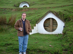 Mark in front of a Hobbit Hole