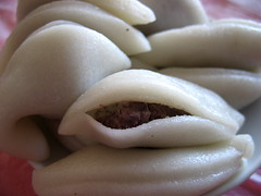 Crescent moons with red-bean filling  - Shangzhi