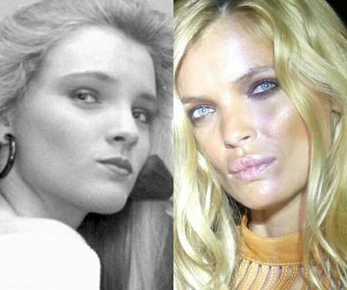 Esther Cañadas, antes y después