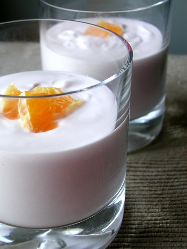 Orange Pomegranate Mousse