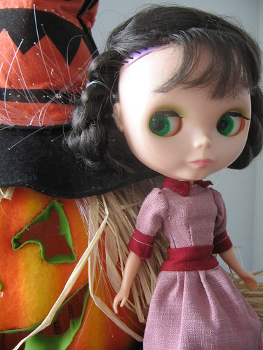 Em gets ready for Halloween
