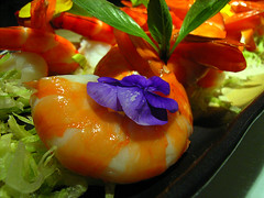 Cold King Prawns with duo sauces